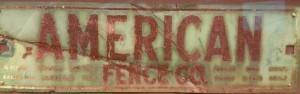 American Fence sign from 1950s